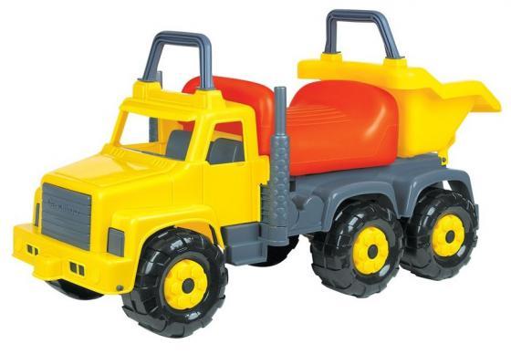 Каталка-машинка Полесье Супергигант-2 пластик от 1 года серый-оранжевый-желтый 7889 полесье каталка пикап с ручкой 2 цвет желтый