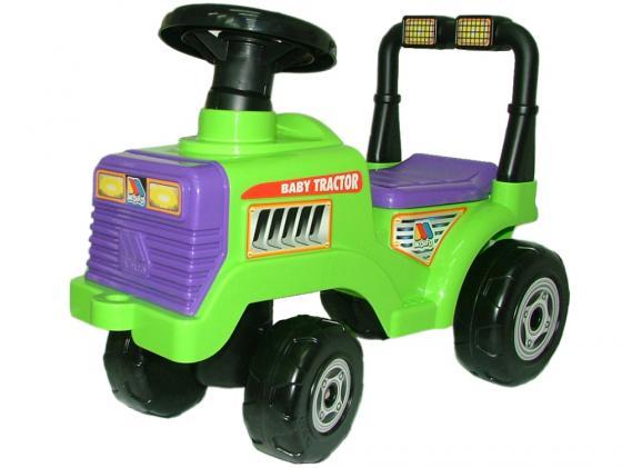 Каталка-машинка Molto Трактор Митя пластик от 1 года с гудком зеленый 7956 каталка машинка molto автомобиль каталка пикап красный от 1 года пластик