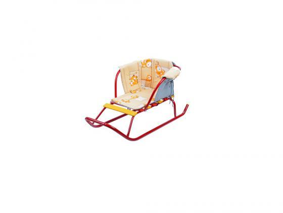 Сиденье для санок Ника с подлокотником ткань разноцветный СС2 в ассортименте