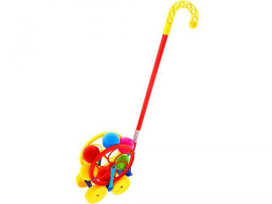 Каталка на палочке Karolina Toys Карусель пластик от 1 года разноцветный 40-0033 каталка на палочке karolina toys карусель разноцветный от 1 года пластик 40 0033