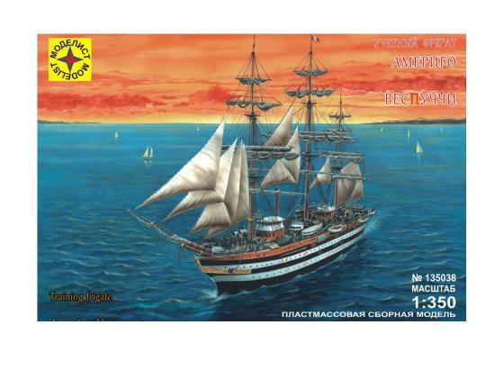 Корабль Моделист учебный фрегат Америго Веспуччи 1:350 135038 корабль моделист баркентина эсмеральда 1 350 135039