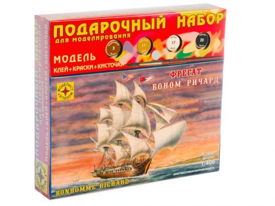 Корабль Моделист фрегат Боном Ричард 1:400 коричневый ПН140001 подарочный набор корабль звезда броненосец князь суворов 1 350 9026п подарочный набор