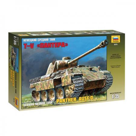 Танк Звезда Т-V Пантера немецкий средний 1:35 3678 звезда сборная модель немецкий средний танк pz iv ausf d
