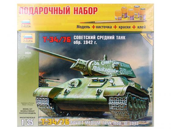 Танк Звезда Т-34/76 (обр. 1942 г.) 1:35 3535П танк т 34 76 с минным тралом 1 35