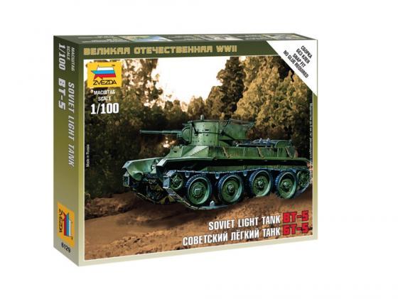 Танк Звезда БТ-5 советский легкий 1:100 6129 бензобур stihl bt 130