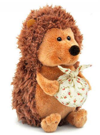 Мягкая игрушка ежик Orange OS065/15В 15 см коричневый искусственный мех orange 7654 15 мягкая игрушка щенок рекс 15 см