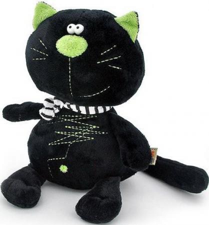 Мягкая игрушка кот ORANGE МС2370/40А 40 см черный искусственный мех синтепон 6938802845953