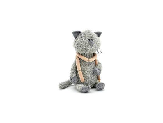 Мягкая игрушка кот ОРАНЖ Кот Обормот с сосисками 30 см серый текстиль OS069/30 мягкая игрушка кот серый 40см