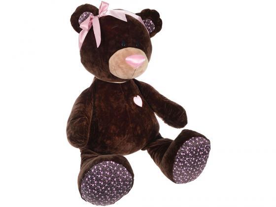 где купить Мягкая игрушка медведь ОРАНЖ Медведь девочка Choco&Milk сидячая 50 см коричневый плюш синтепон М004/50 по лучшей цене
