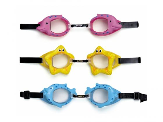 Очки для плавания в ассорт. Intex 55603 цена