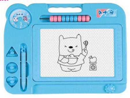 Доска для рисования Shantou Gepai Мишка, цветная, счеты, штампики 63754 в ассортименте цена