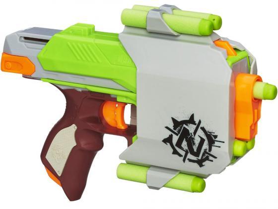 Бластер Hasbro Nerf Зомби Сайдстрайк для мальчика серебристый A6557 игрушечное оружие nerf hasbro бластер зомби страйк сайдстрайк