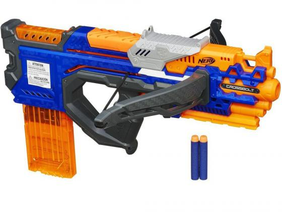 Бластер Hasbro Nerf Элит Кросс Болт синий A9317 бластер hasbro nerf элит риталиэйтор 98696h