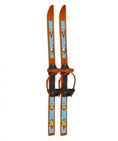 Лыжи детские Вираж-спорт с палками пластиковые 100см 36105 новинка