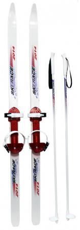 Лыжи подростковые Ski Race с палками 120/95 Дартс-Ковров Лыж 36527 машину ковров