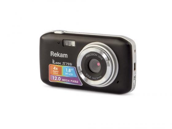 Цифровая фотокамера Rekam iLook S755i 12 Mpx 1.8 LCD черный пантилеева а ред сост орнамент ближний восток