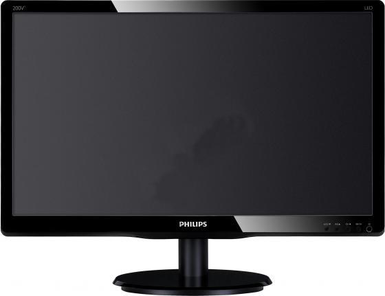 """Купить со скидкой Монитор 19.5"""" Philips 200V4QSBR черный MVA 1920x1080 250 cd/m^2 8 ms DVI VGA"""