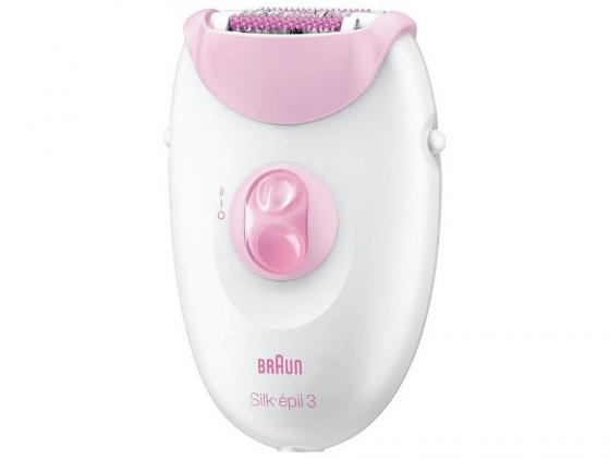 Эпилятор Braun 3370 Silk-epil Soft Perfection розовый белый
