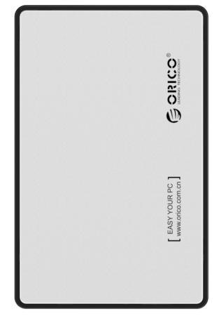 Внешний контейнер для HDD 2.5 SATA Orico 2588US3-SV USB3.0 серебристый внешний контейнер для hdd 2x3 5 sata orico 9528u3 usb3 0 серебристый