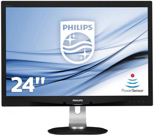 Монитор 24 Philips 240B4QPYEB серебристый черный PLS 1920x1200 250 cd/m^2 5 ms DVI VGA DisplayPort USB Аудио монитор 24 samsung s24h650gdi черный pls 1920x1200 250 cd m^2 4 ms hdmi displayport vga usb ls24h650gdixci