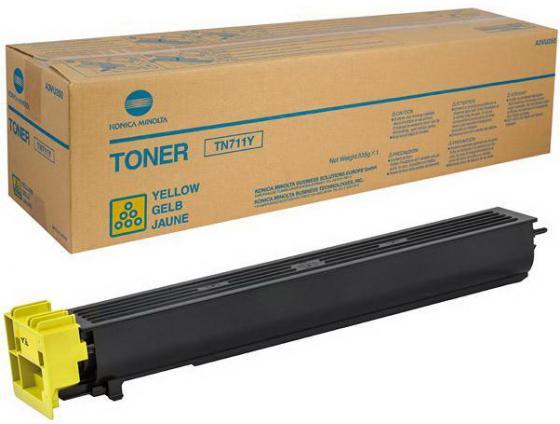 Тонер Konica Minolta TN-711Y для bizhab C654/C754 желтый тонер konica minolta tn 116 для bizhab 164 165 185 черный a1uc050