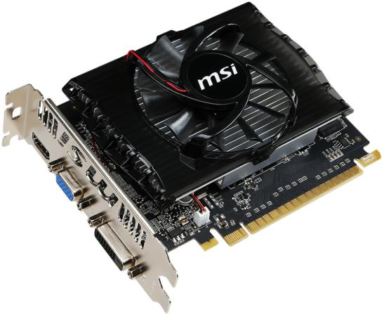 Видеокарта MSI GeForce GT 730 GeForce GT730 PCI-E 2048Mb GDDR3 128 Bit Retail цена и фото