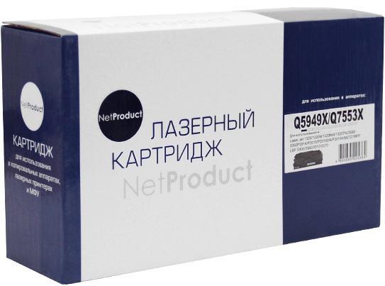 Фото - Картридж NetProduct Q5949X/Q7553X для HP LJ P2015/1320/3390/3392 черный 7000стр картридж hp q5949x