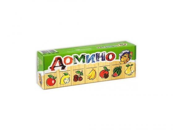 Настольная игра домино Томик Фрукты-ягоды 5555-5 настольная игра домино стеллар фрукты 12