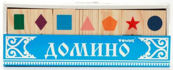 Настольная игра домино Томик Геометрические фигуры 5655-1 18013 замок авто серо черн 1 труба 1123672