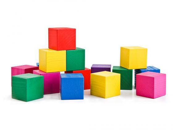 Конструктор Томик Кубики цветные 20 элементов 2323