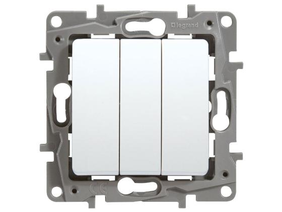 Выключатель Legrand Etika 3-клавишный белый 672213