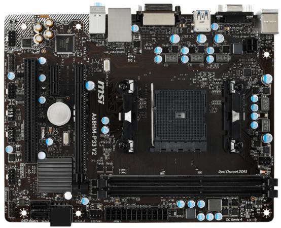 Материнская плата MSI A68HM-P33 V2 Socket FM2+ AMD A68H 2xDDR3 1xPCI-E 16x 1xPCI-E 1x 4xSATAIII mATX Retail frico p33