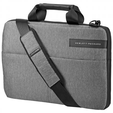 """Сумка для ноутбука 14"""" HP Signature II Slim Topload синтетика черный серый L6V67AA"""