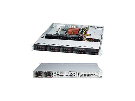 Купить Серверный корпус Supermicro CSE-113MTQ-R400CB 1U ATX 8x2.5'' HotSwap SAS/SATA 400Вт черный, Сталь