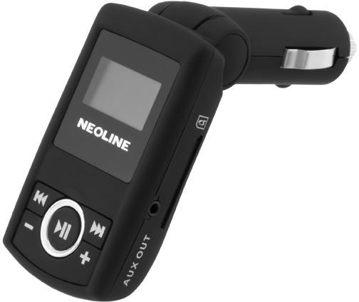 FM трансмиттер Neoline Splash FM microSD USB пульт ДУ черный fm трансмиттер neoline rave fm
