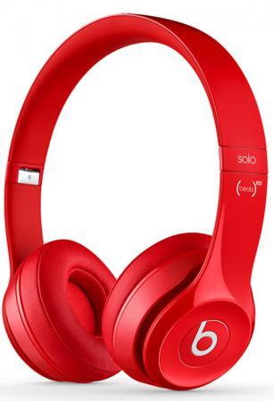 Наушники Apple Beats Solo 2 WL красный MH8Y2ZM/A bluetooth гарнитура beats solo 2 wl se2 active collection 1 361м желтый mkq12ze a
