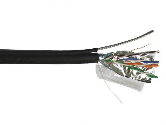 Кабель Lanmaster FTP кат.5E 4 пары для внешней прокладки с тросом 305м TWT-5EFTP-OUT-TR