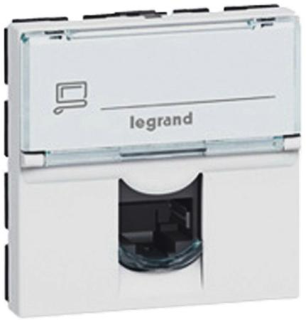Розетка Legrand Mosaic RJ-45 FTP кат.5e 2 модуля 76555 розетка legrand mosaic rj 45 utp кат 5e 1 модуль белый lcs2 76551