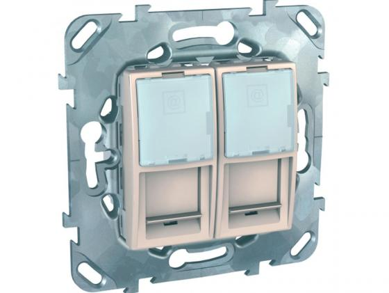 Розетка Schneider Electric 2хRJ45 кат.5е MGU5.2020.25ZD