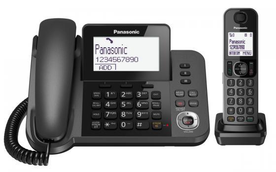 Радиотелефон DECT Panasonic KX-TGF320RUM черный радиотелефон