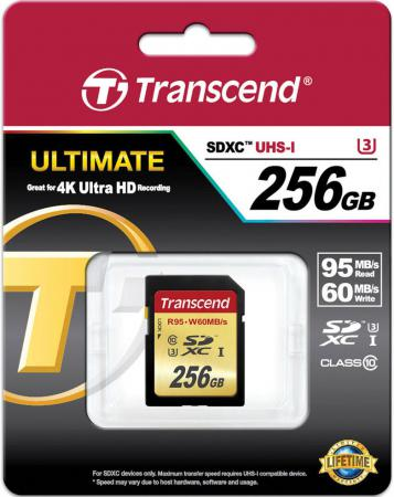 Карта памяти SDXC 256GB Class 10 Transcend TS256GSDU3 transcend transcend ts64gsdxc10 sdxc 64гб class 10