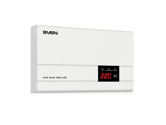 Стабилизатор напряжения SVEN AVR SLIM-500 LCD стабилизатор sven avr slim 500 lcd