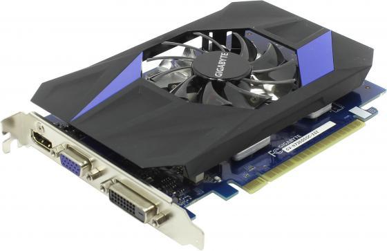 Видеокарта 1024Mb Gigabyte GT730 PCI-E GDDR5 64bit HDMI DVI HDCP GV-N730D5OC-1GI Retail видеокарта 6144mb msi geforce gtx 1060 gaming x 6g pci e 192bit gddr5 dvi hdmi dp hdcp retail
