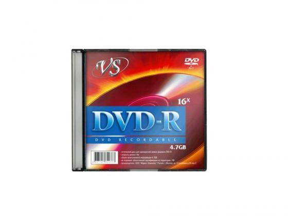 Диски DVD-R VS 16х 4.7Gb Slim VSDVDRSL501 1шт dvd r vs 4 7gb 16х 10шт cake box