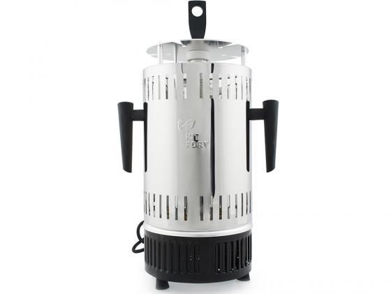 Электрошашлычница KITFORT KT-1405 серебристый чёрный все цены