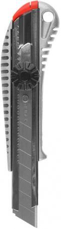 Нож ЗУБР MASTER с сегментированным лезвием пластмасс 18мм 09172 нож stayer standard с сегментированным лезвием 18мм 0913