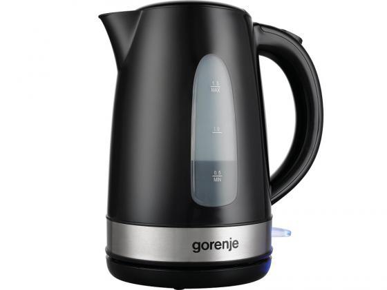 Чайник Gorenje K15BK 2200 Вт серебристый чёрный 1.5 л пластик