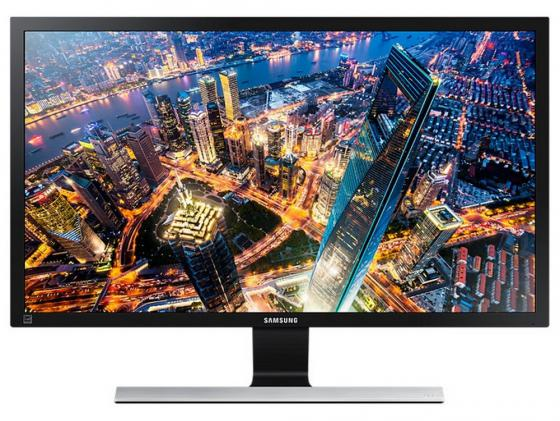 Монитор 28 Samsung U28E590D черный TN 3840x2160 370 cd/m^2 1 ms HDMI DisplayPort Аудио монитор lg 24ud58 b черный ips 3840x2160 250 cd m^2 5 ms g t g hdmi displayport