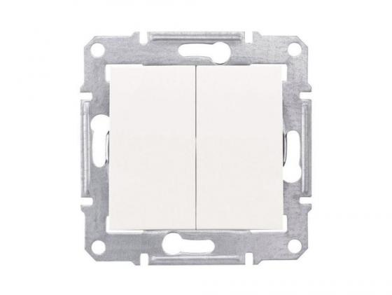 Выключатель Schneider Electric 2-клавишный белый SDN0300121 выключатель 3 клавишный schneider electric glossa титан