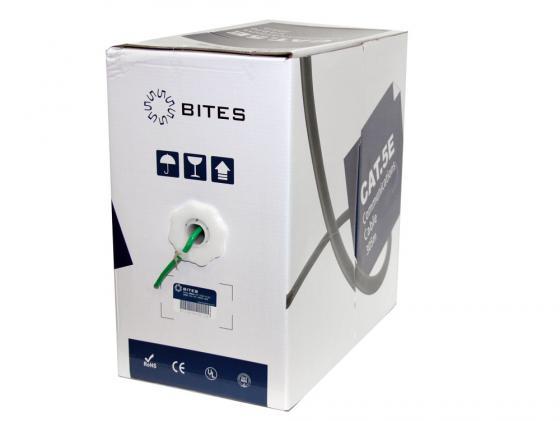 Кабель UTP indoor 4 пары категория 5e 5bites US5505-305A-GR одножильный CCA PVC 305м зеленый